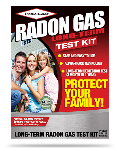 Radon Gas (Long Term) Test Kit