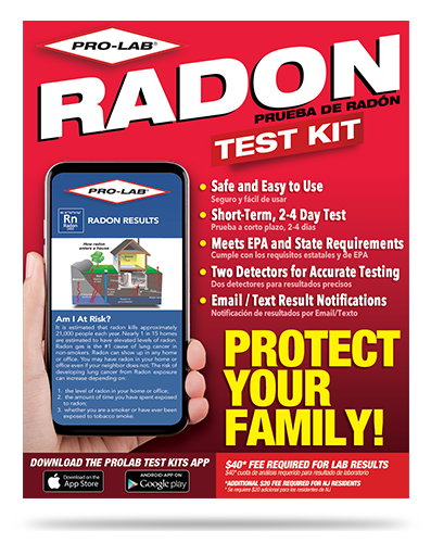 Radon Gas Test Kit Pro Lab